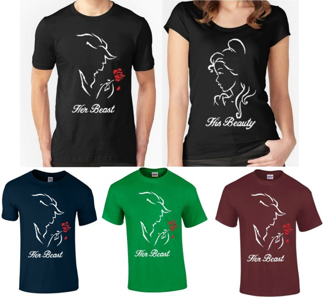 Camisetas de Bella y Bestia
