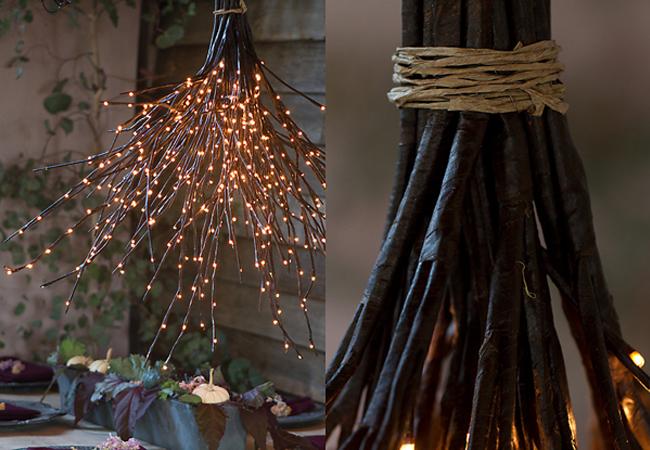 decoración de navidad ramas