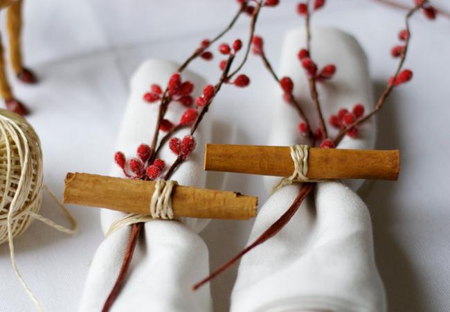 decoración de navidad servilletas