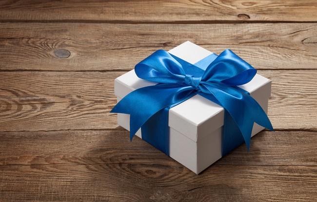 regalo azul