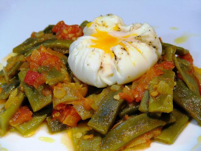 Cenas fáciles. judias verdes tomate