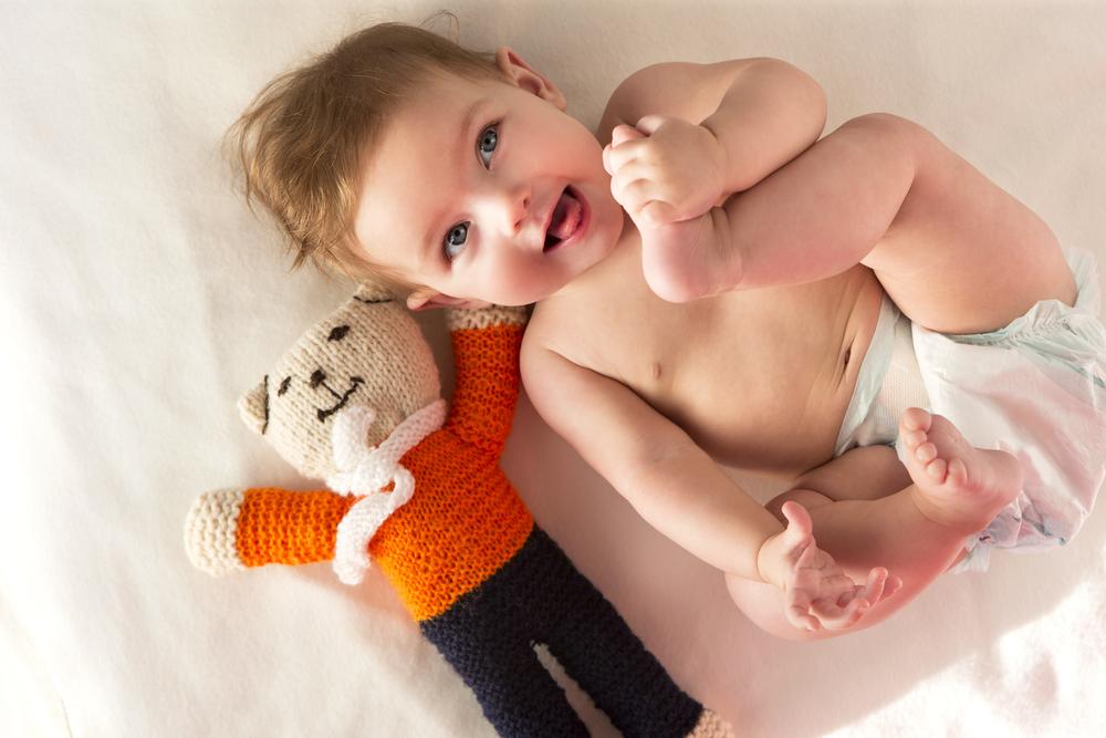 visión del bebé pies