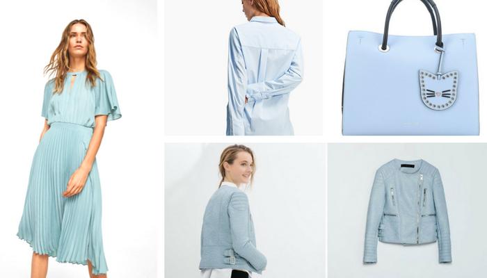 colores de primavera 2018 azul moda
