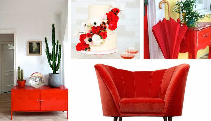 colores primavera verano 2018 rojo decoración