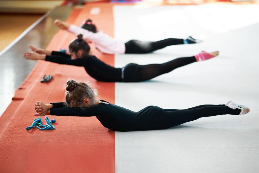 Entrenamiento de gimnasia rítmica