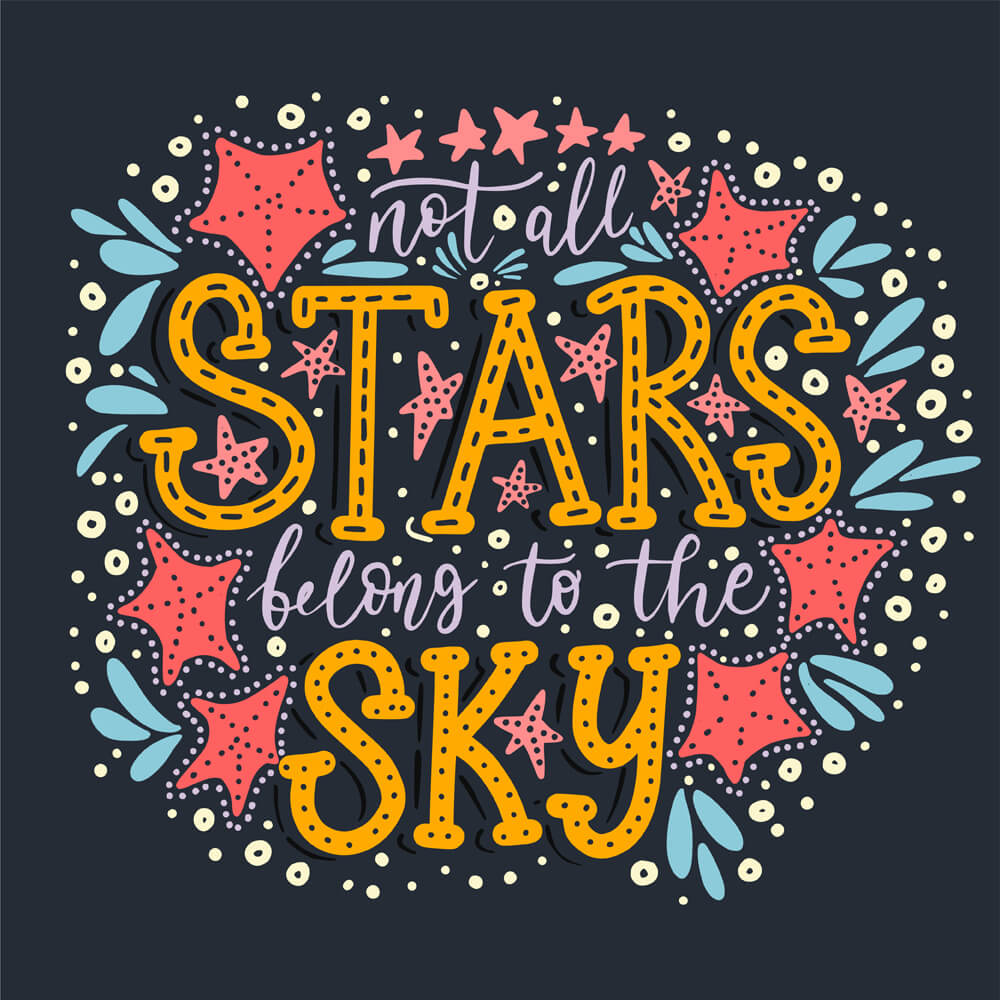 Not all the stars belong to the sky