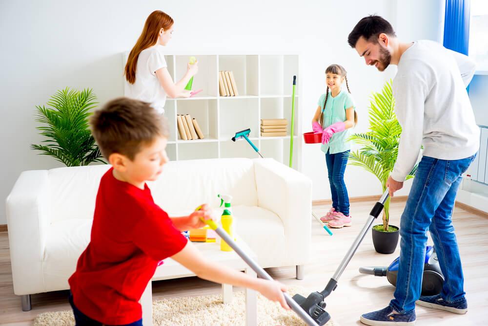 Limpieza en familia