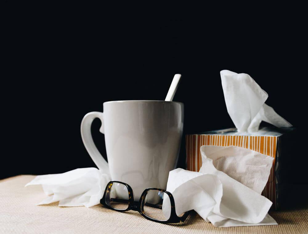 bodegón enfermedad. Gripe