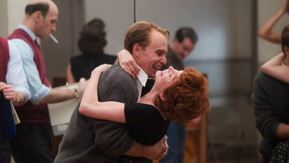 Michelle Williams as Gwen Verdon and Sam Rockwell as Bob Fosse in Fosse / Verdon (HBO)