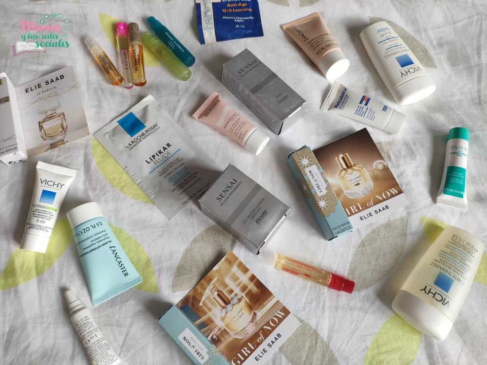 muestras de maquillaje