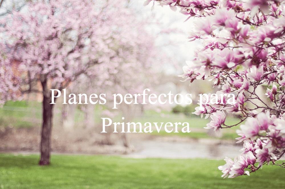 planes perfectos para primavera